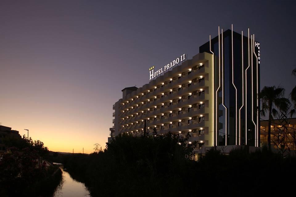Hotel Prado y puesta de sol
